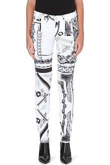VERSUS X ANTHONY VACCARELLO Printed skinny jeans