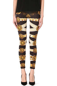VERSUS Belt printed leggings
