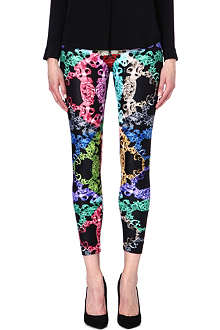 VERSUS Chain-print stretch-jersey leggings