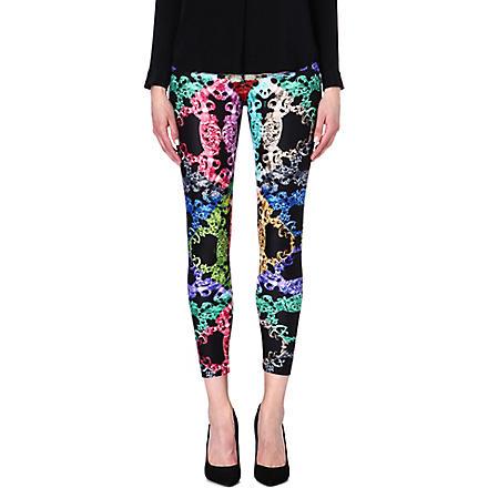 VERSUS Chain-print stretch-jersey leggings (Multicolour