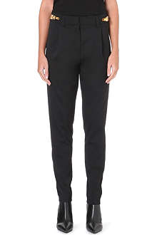 VERSUS X ANTHONY VACCARELLO Tessuto tapered stretch-wool trousers