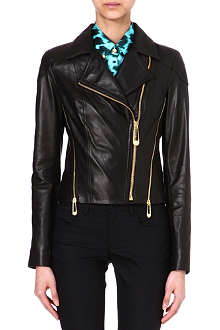 VERSUS Leather biker jacket