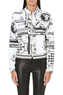 VERSUS X ANTHONY VACCARELLO Giubbotto printed denim jacket