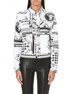 VERSUS X ANTHONY VACCARELLO Giubbotto printed denim jacket