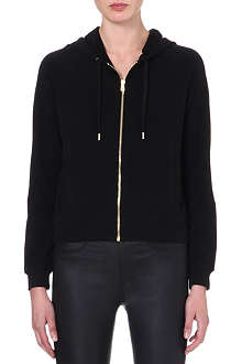 VERSUS Branded jersey zip-through hoody