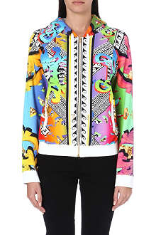 VERSUS Printed zip-up hoody