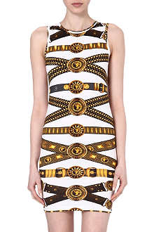 VERSUS Belt print jersey dress