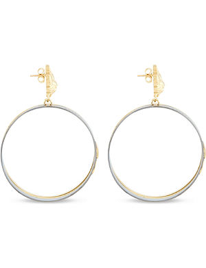 VERSUS X ANTHONY VACCARELLO Gold & ruthenium hoop earrings