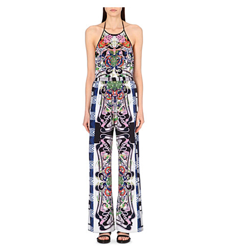 CLOVER CANYON Swirling Scarf stretch-crepe jumpsuit (Multi