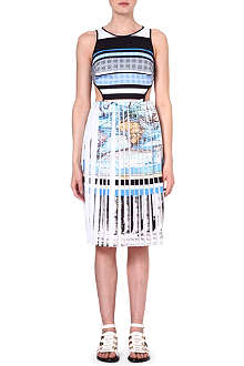 CLOVER CANYON Ancient World Map cut-out dress