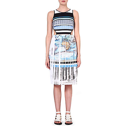 CLOVER CANYON Ancient World Map cut-out dress (Multi