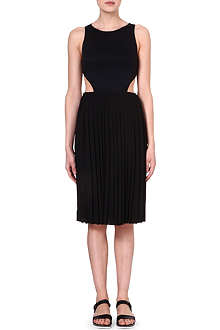 CLOVER CANYON Pleated cut-out dress