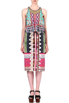 CLOVER CANYON Taj Mahal tie-waist dress