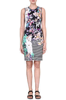 CLOVER CANYON Enchanted Garden bodycon dress