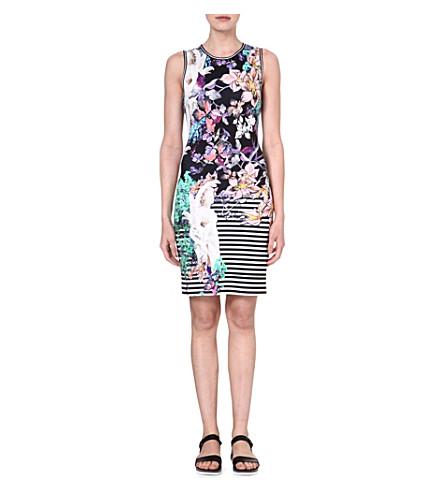 CLOVER CANYON Enchanted Garden bodycon dress (Multi