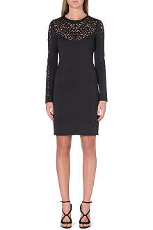 CLOVER CANYON Fitted neoprene dress