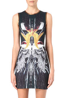 CLOVER CANYON Royal Wings neoprene dress