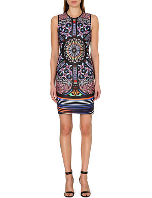 CLOVER CANYON Stained glass neoprene dress