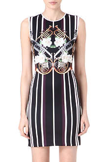 CLOVER CANYON Instrumental Stripe neoprene dress