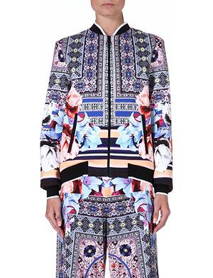 CLOVER CANYON Byzantine Scarf neoprene jacket
