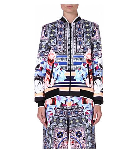 CLOVER CANYON Byzantine Scarf neoprene jacket (Multi