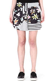 CLOVER CANYON Floral-printed shorts