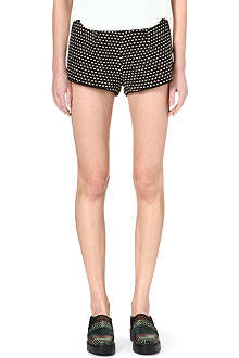 CLOVER CANYON Jacquard striped shorts