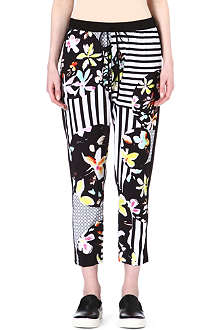 CLOVER CANYON Floral Discs trousers