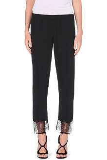 CLOVER CANYON Tapered sheer lace crepe trousers