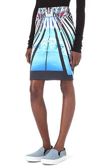 CLOVER CANYON Glacial City neoprene skirt