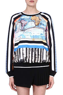 CLOVER CANYON Ancient World Map sweatshirt