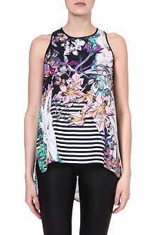 CLOVER CANYON Enchanted Garden sleeveless top