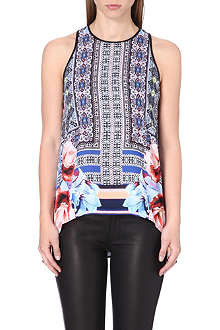 CLOVER CANYON Byzantine Scarf sleeveless top