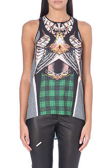 CLOVER CANYON Magic Armor printed crepe top