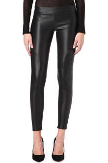 MSGM Faux-leather leggings