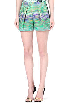 MSGM Tweed pleated shorts