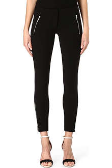 MSGM Zipped jersey trousers
