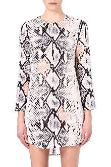 MSGM Python-print silk dress