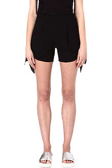 MSGM Side-tie crepe shorts