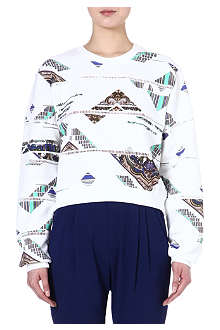 MSGM Abstract printed sweatshirt