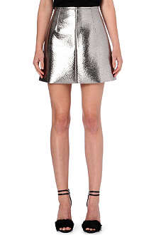 MSGM Metallic mini skirt