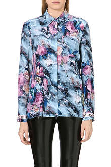 MSGM Abstract floral blouse