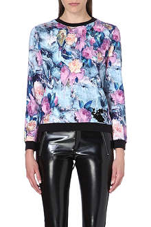 MSGM All-over floral sweatshirt