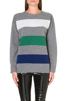 MSGM Horizontal stripe wool jumper