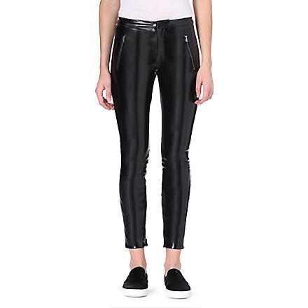 MSGM Vinyl legging trousers (Black