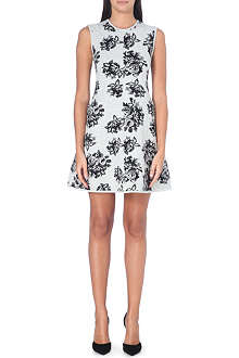 MSGM Floral jacquard-knit dress