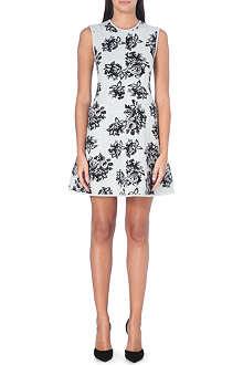 MSGM Floral jacquard-knit dress