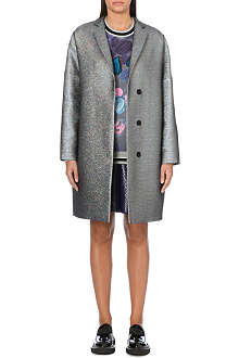 MSGM Metallic notch-lapel coat