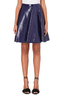 MSGM Coated flared skirt