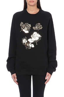 MSGM Mirrored floral sweatshirt